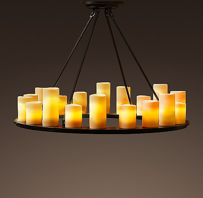 Pillar candle round chandelier 40 mozeypictures Image collections