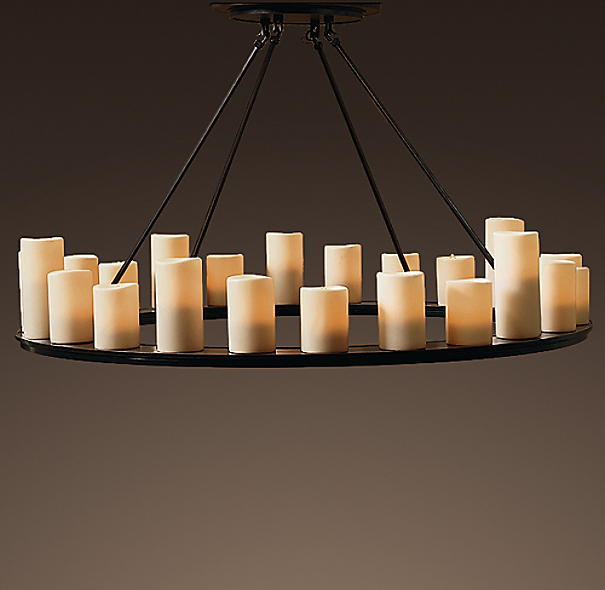 Pillar Candle Round Chandelier 48 Quot