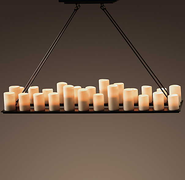 Pillar Candle Rectangular Chandelier 59 Quot