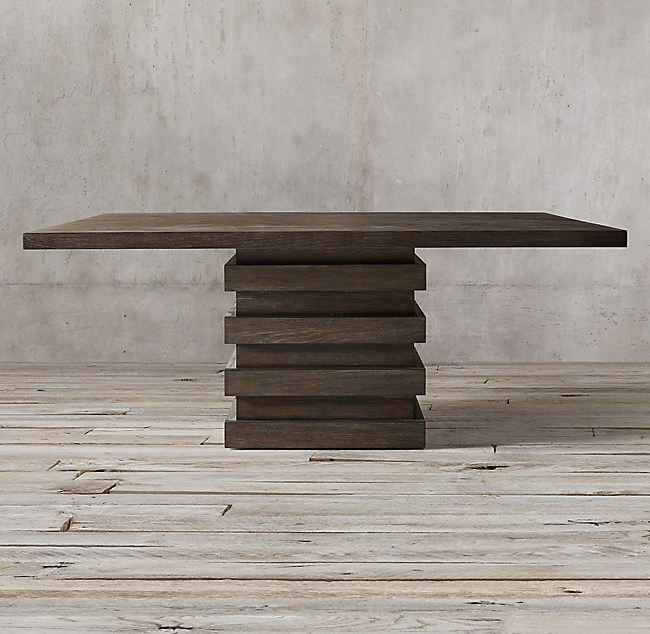 Stacked square dining table watchthetrailerfo