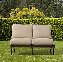 Antibes Luxe Two-Seat Left/Right-Arm Sofa Cushions