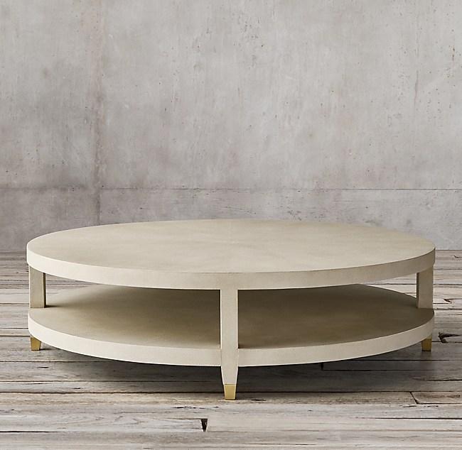 Greatest Graydon Shagreen Round Coffee Table EF68
