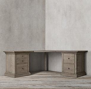 St James Modular Office Collection Antiqued Grey Oak