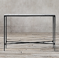 Thaddeus Forged Iron Amp Marble Rectangular Entry Console Table