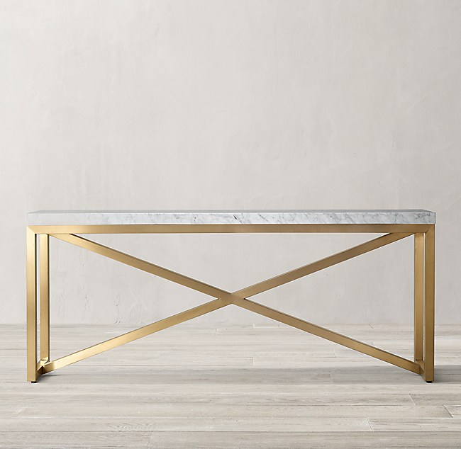 36bc70308c2d7b Torano Marble Rectangular Console Table