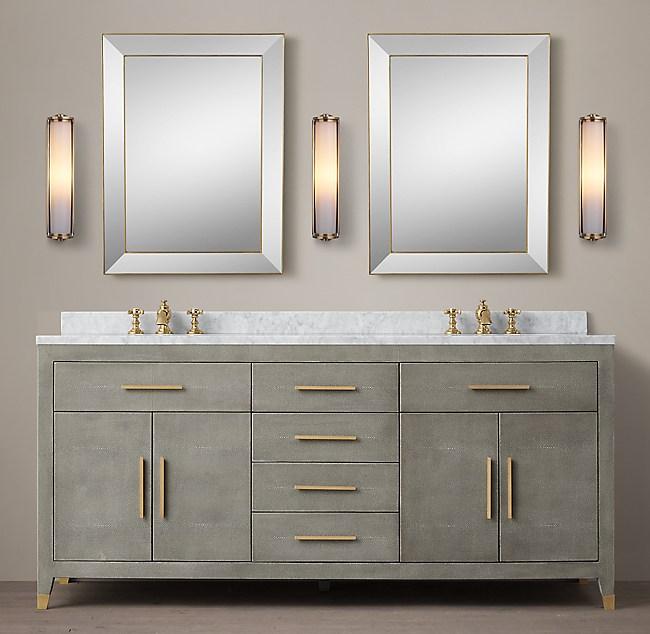 Graydon Shagreen Double Vanity