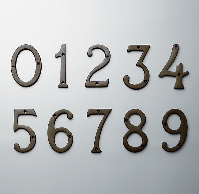 Standard House Numbers - House Numbers