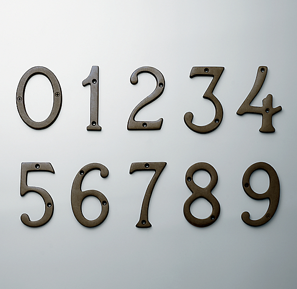 modern house numbers restoration hardware