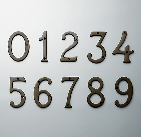 - Standard House Numbers