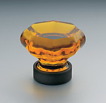 Traditional Amber Glass Knob