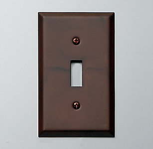 Switch plates rh more finishes metal single switch plate sciox Image collections