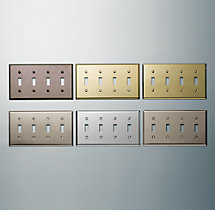 Metal Quadruple Switch Plate