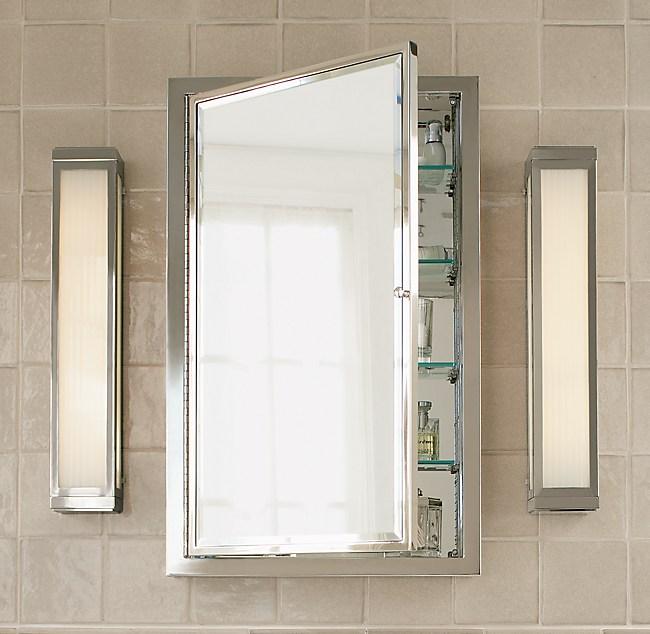 . Framed Wall Mount Medicine Cabinet