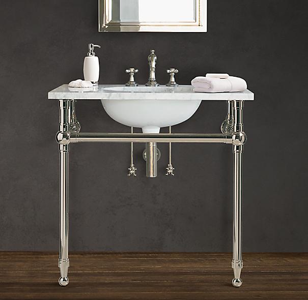 Gramercy Single Metal Washstand Base