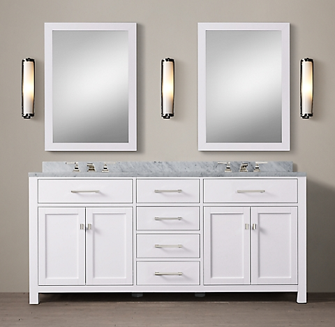 hutton vanity bath collection - white polished nickel | rh