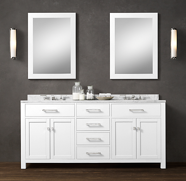 hutton double vanity sink. Black Bedroom Furniture Sets. Home Design Ideas