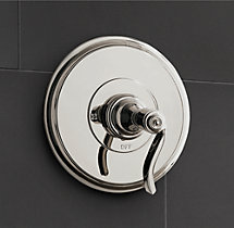 Campaign Lever-Handle Balanced Pressure Shower Valve & Trim Set with Backplate