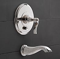 handle balanced pressure tub shower valve trim set with bath