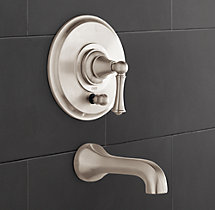 Chatham Lever-Handle Balanced Pressure Tub & Shower Valve & Trim Set with Bath Spout