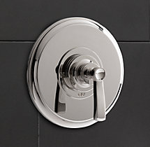 Asbury Lever-Handle Balanced Pressure Shower Valve & Trim Set with Backplate