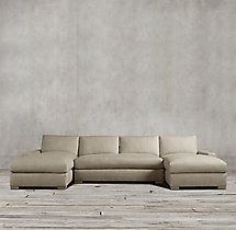 Preconfigured Maxwell Upholstered U-Chaise Sectional