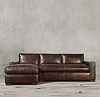 Maxwell Leather Left Arm Chaise Sectional