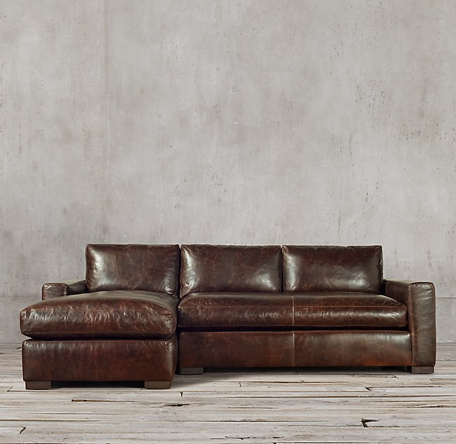 Maxwell Leather Sofa Chaise Sectional