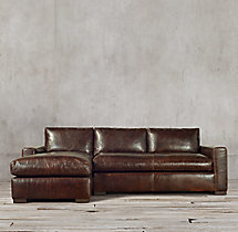 Preconfigured Maxwell Leather Left-Arm Chaise Sectional