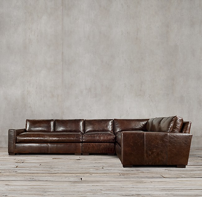 Maxwell Leather L Sectional