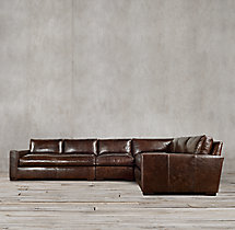Preconfigured Maxwell Leather L-Sectional