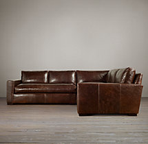 Preconfigured Maxwell Leather Corner Sectional
