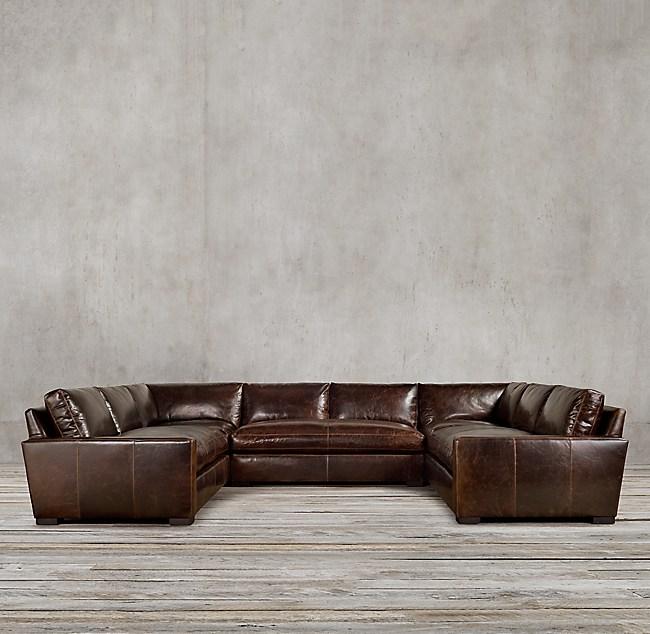 Leather U-Sofa Sectional