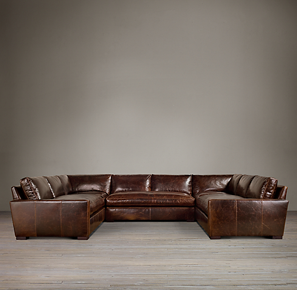 Preconfigured Maxwell Leather U Sofa Sectional