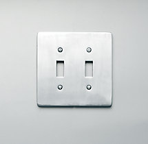 Aluminum Double Switch Plate