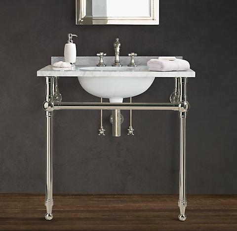 Gramercy Metal Sinks & Washstands | RH