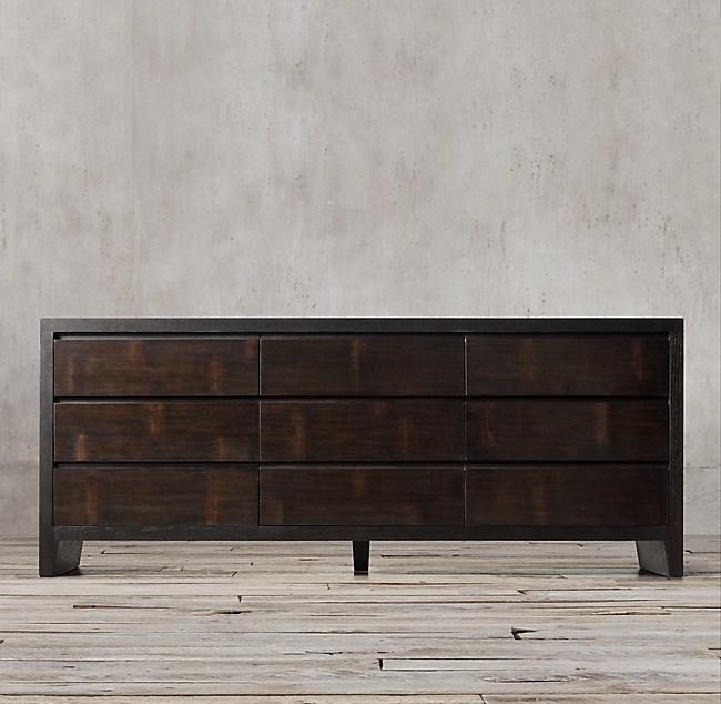 Wyeth Split Bamboo 9-Drawer Dresser