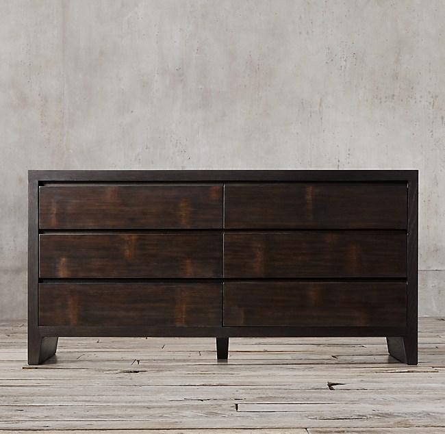 New Wyeth Split Bamboo 6 Drawer Dresser