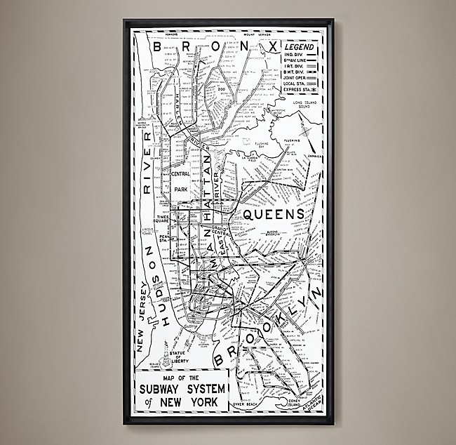 Request Nyc Subway Map.1955 New York Subway System Map