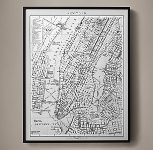 Maps rh circa 1900 map of new york lithograph gumiabroncs Image collections