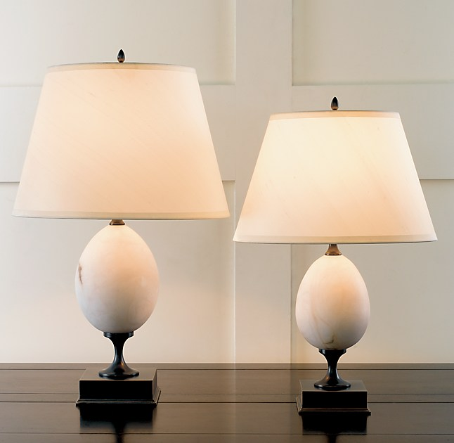 Empire Egg Alabaster Table Lamp