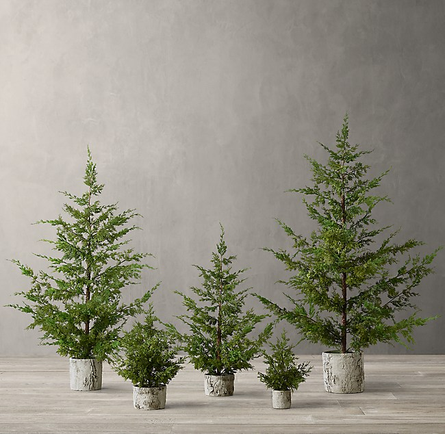 914fde527175c Faux Juniper Potted Tree Collection