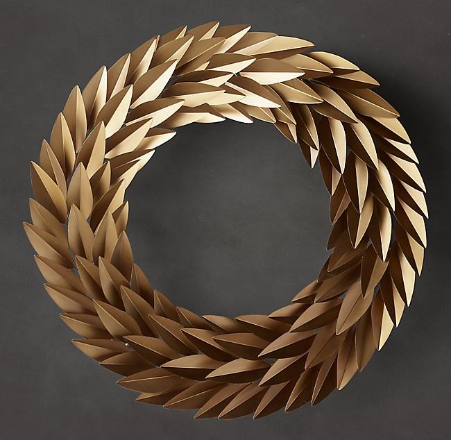Laurel Leaf Wreath Brass