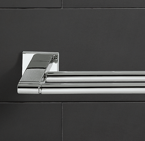 Restoration Hardware Modern: Modern Double Towel Bar