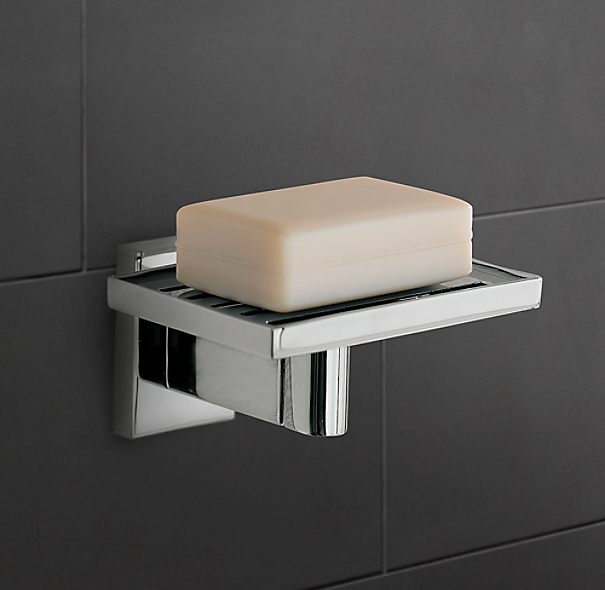 Modern wall mount soap dish for Wall mounted soap dishes for bathrooms