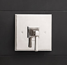 Dillon Lever-Handle Balanced Pressure Shower Valve & Trim Set with Backplate