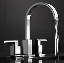 "Modern Lever-Handle 8"" Widespread Faucet Set"