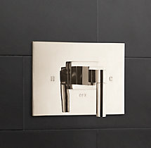 Modern Lever-Handle Balanced Pressure Shower Valve & Trim Set
