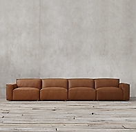 Como Modular Leather Sofa