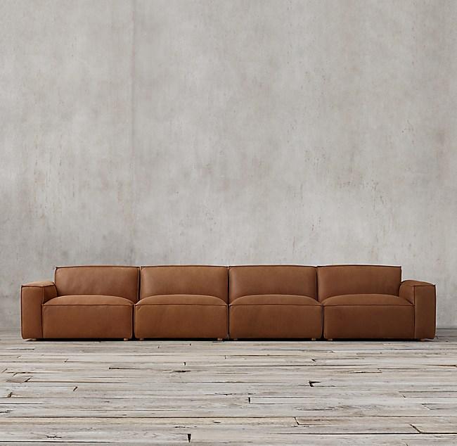 Como Modular Leather Sofa