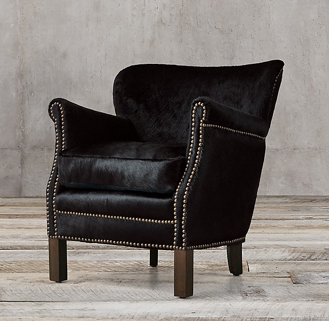 Professor S Hair On Hide Chair With Nailheads